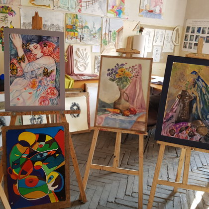 The Exhibition of YSCC Students' Paintings